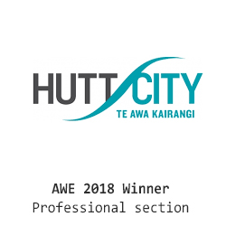 Hutt City logo AWE - economate prize winner